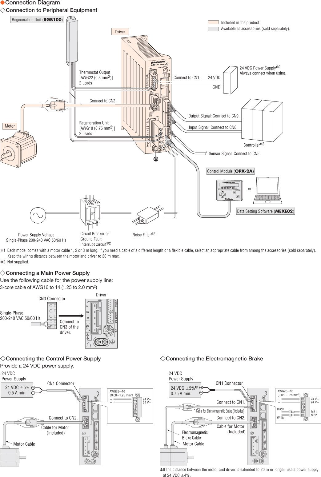 item ar46aad 3 alphastep closed loop stepper motor and driver connection diagram