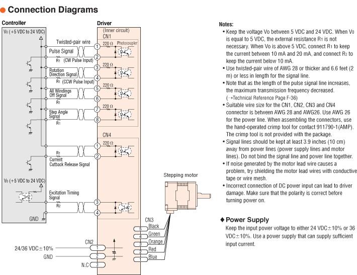 Sensational Item Pmc33B1 Hg100 5 Phase Stepper Motor System On Oriental Motor Usa Wiring Cloud Inamadienstapotheekhoekschewaardnl