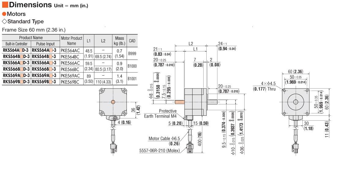 dm rks56_ item rks569ac 3, microstep stepper motor & driver on oriental oriental motor wiring diagram at eliteediting.co