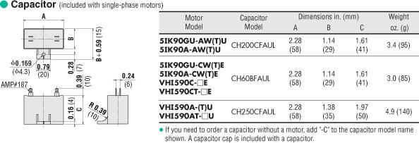 Item 5ik90gu Cwte Induction Motor On Oriental Motor Usa