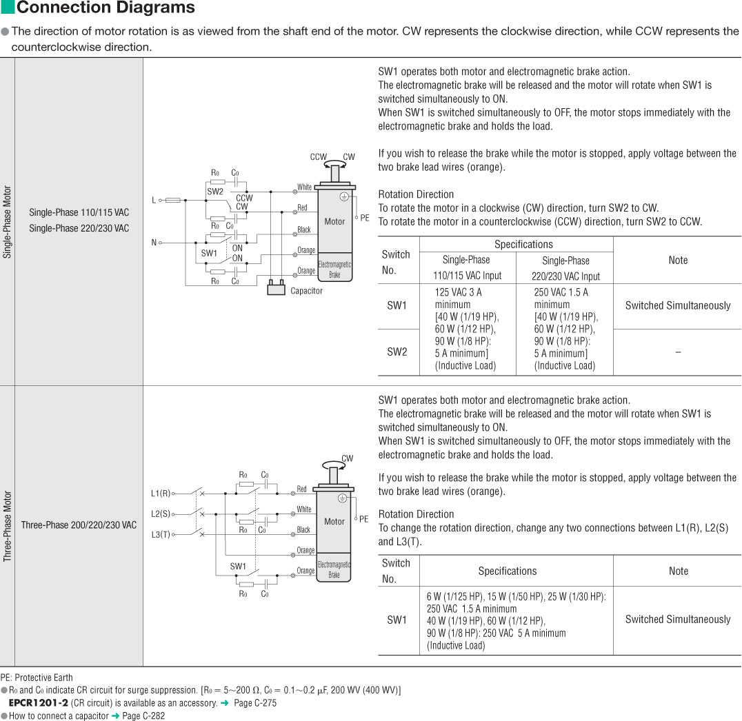 Item 3rk15gn Aw2mu Electromagnetic Brake Reversible Motor On 125 Hp Wiring Diagram 1