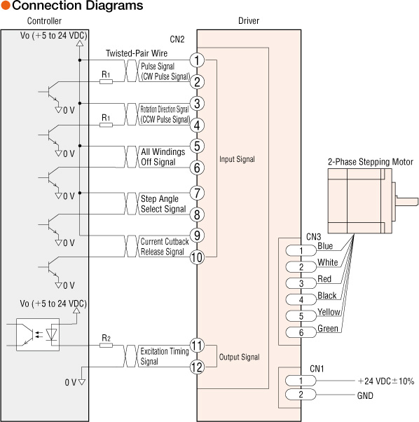 CMK264PAR16S7.2  Phase Stepper Motor Wiring Diagram on