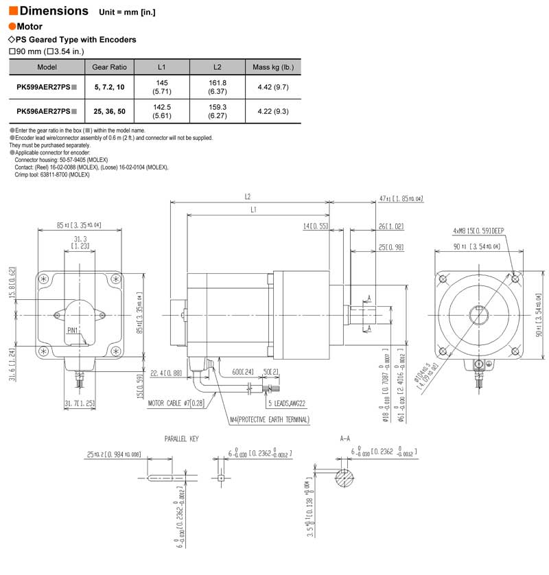 C Face Motor Frame Dimensions