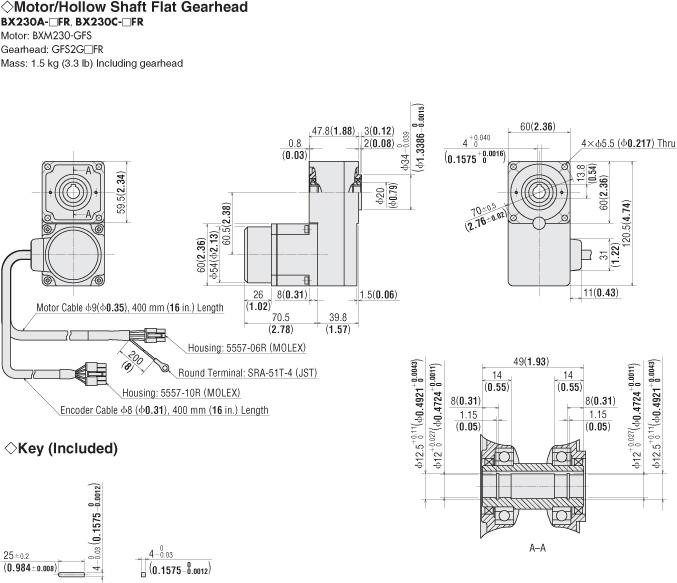 Item Bxm230 Gfs Gfs2g5fr Brushless Dc Motor On