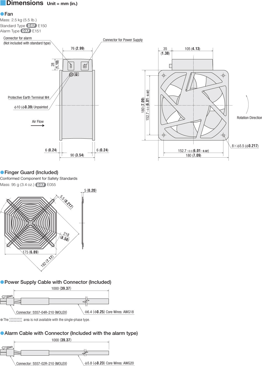 Mre18 Bmhg Triangle Fan Wiring Diagram Connection Dimensions