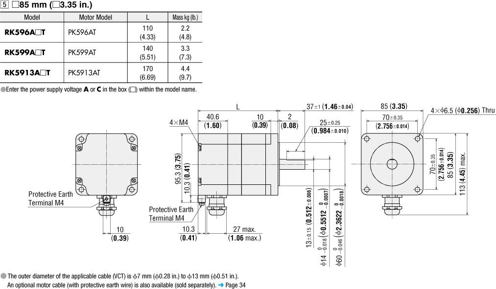 dm rk596 99 913a_t item pk5913at, ip65 rated step motor on oriental motor usa oriental motor wiring diagram at eliteediting.co