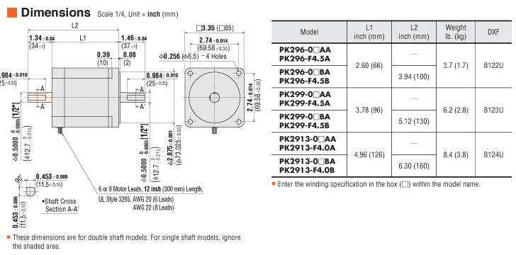 item pk299 03aa stepper motor on oriental motor usa rh catalog orientalmotor com 6 Wire Motor Wiring Diagram Single Phase Motor Wiring Diagrams