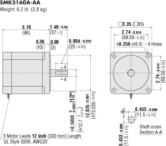 dm_smk5160 a item smk5160a aa, 3 35 in (85 mm) low speed synchronous motor A3 Lean Diagrams at soozxer.org